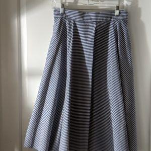Blue & White pinstriped Uniqlo skirt